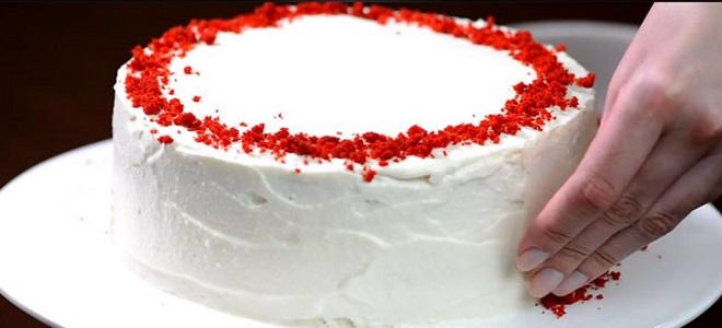 как украсить торт красный бархат