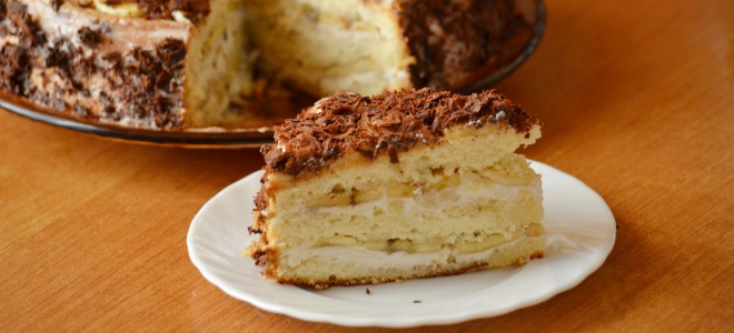как вкусно испечь бисквитный торт с бананами