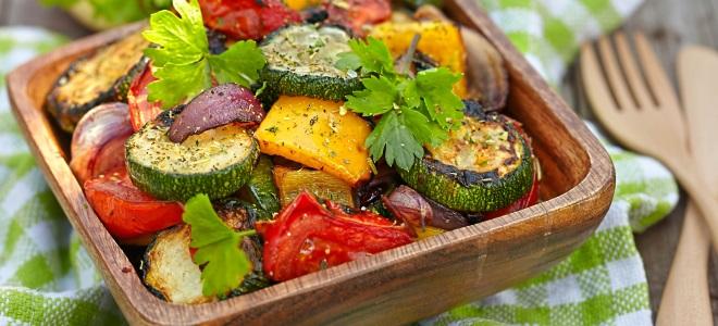 Овощи на сковороде гриль рецепты в домашних