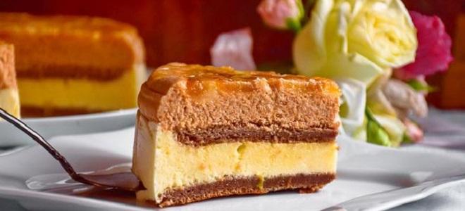 Карамельный муссовый торт