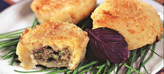 Картофельные котлеты из пюре рецепт с начинкой