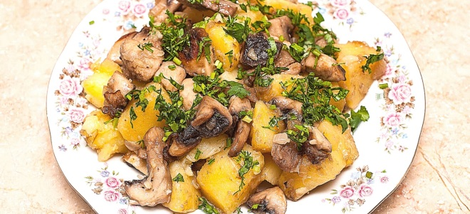 Картошка с опятами в мультиварке