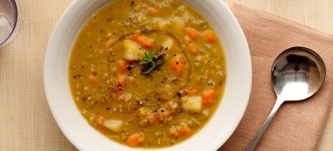 Классический гороховый суп без мяса - рецепт