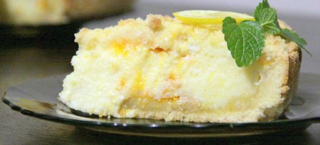 рецепт королевской ватрушки с творогом и лимоном