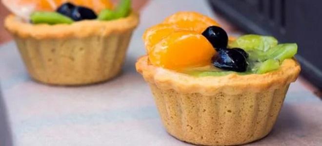Корзиночки с фруктами и желе