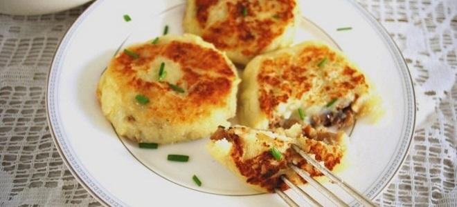 котлеты с грибами и сыром