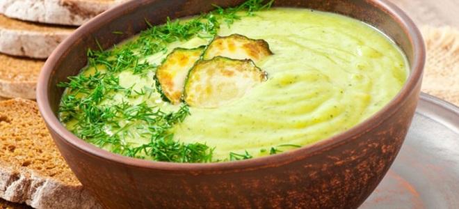 Крем-суп из кабачков с сыром
