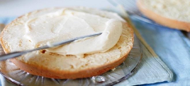 Творожный крем со сливками для бисквита