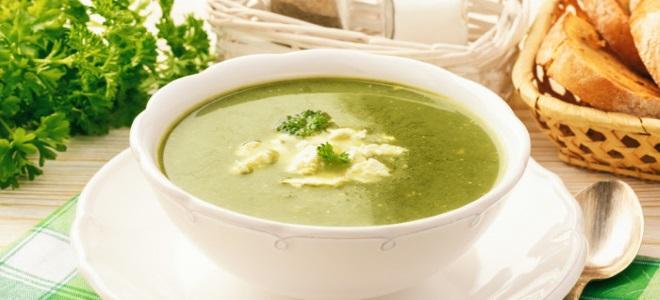 крем суп из шпината