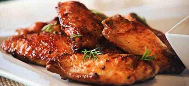 крылышки в медовом соусе на сковороде