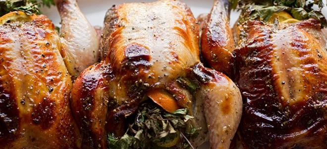 курица гриль по польски на костре целиком
