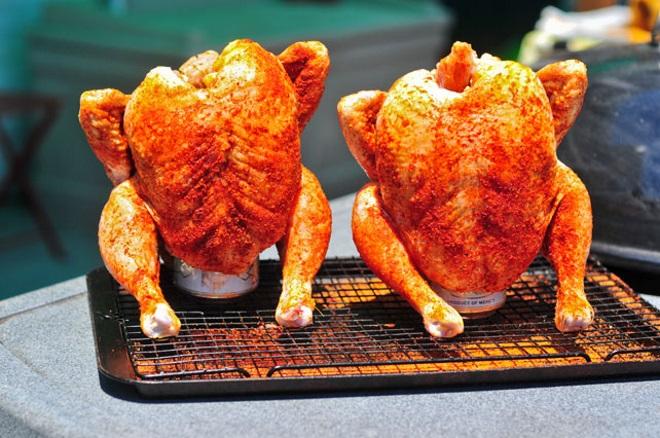 курица в духовке с овощами на шпажках