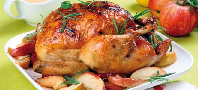курица с яблоками в горчично медовом соусе