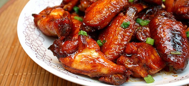 куриные крылышки в медово горчичном соусе