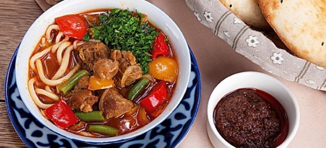 рецепт приготовления лагман из говядины