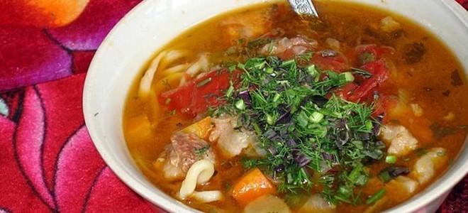 Суп лагман рецепт в мультиварке пошагово