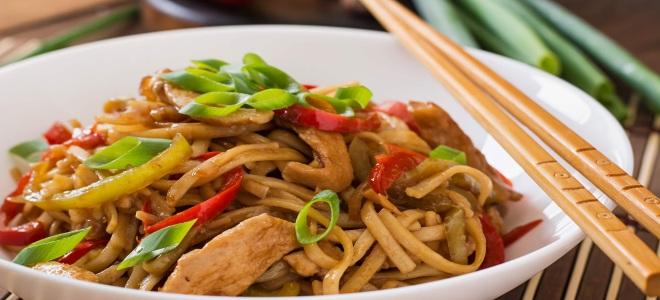 Рецепт удона с овощами в соусе терияки