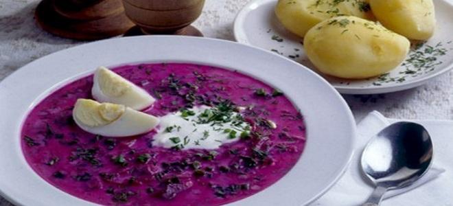 литовский холодный борщ рецепт
