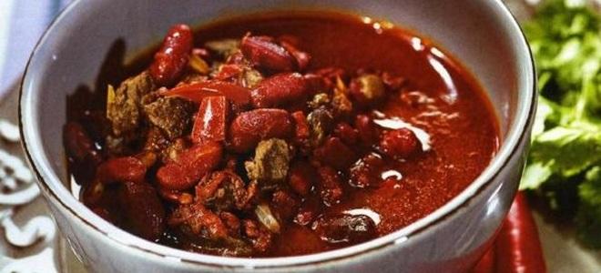 лобио из красной фасоли классический рецепт с мясом в горшочках