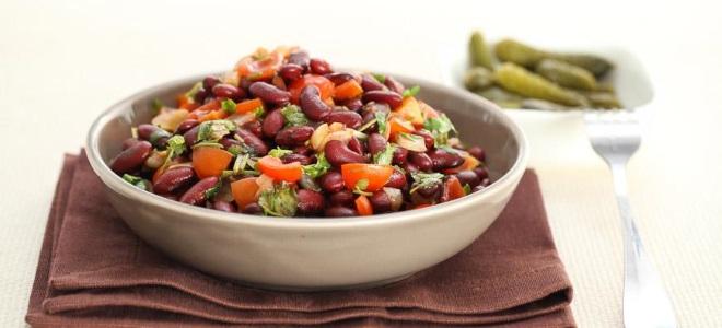 Салат лобио из красной фасоли рецепт