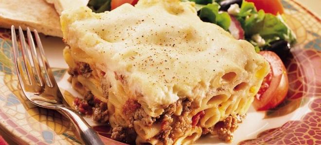 Запеканка с макарон с фаршем и сыром в духовке рецепт с фото пошагово