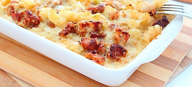 Макароны с фаршем и сыром в духовке рецепт с фото пошагово