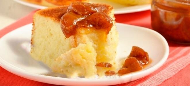 Манник с яблоками без муки рецепт