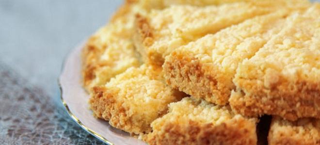 Открытый пирог с творогом песочное тесто рецепт с