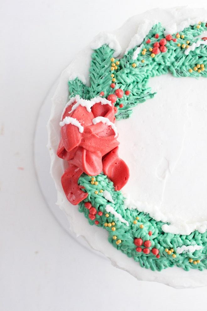 Новогодние кремовые торты 5
