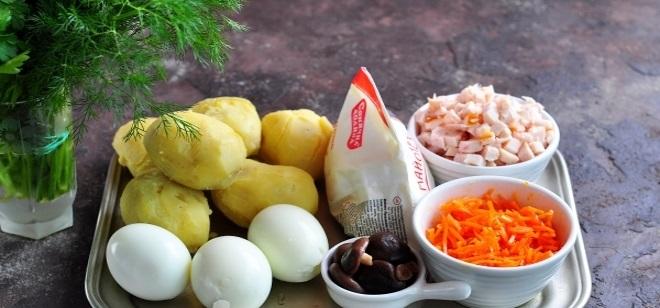 Новогодний салат «Собачка» продукты 1