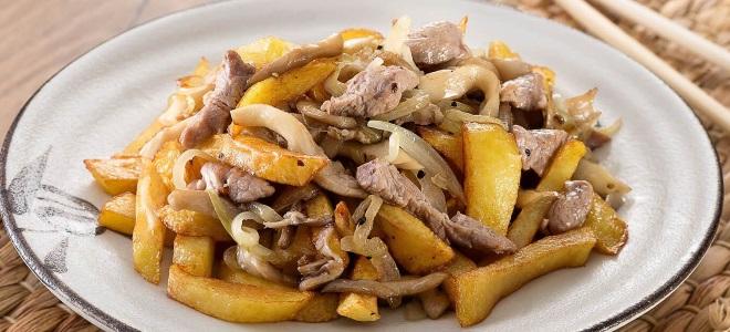 Опята с мясом и картошкой
