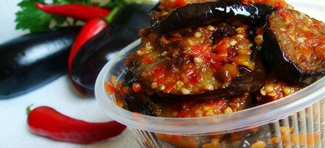 Острая закуска из баклажанов на зиму рецепты пошагово