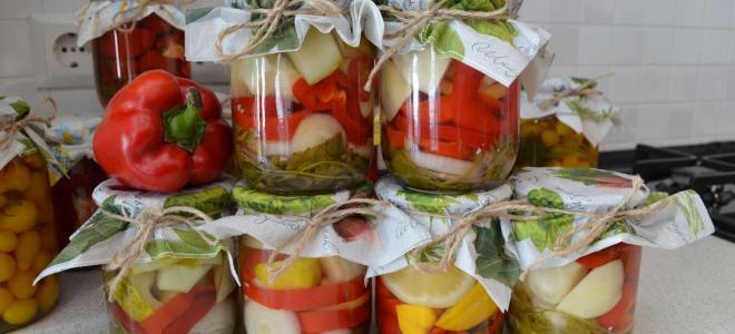 Овощное ассорти с лимонной кислотой на зиму