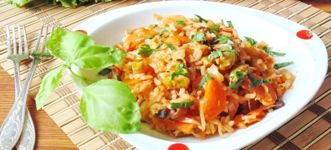овощное рагу с рисом и мясом