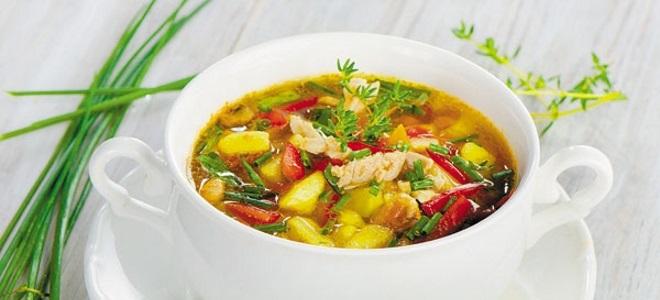 Овощной суп с капустой рецепт с фото