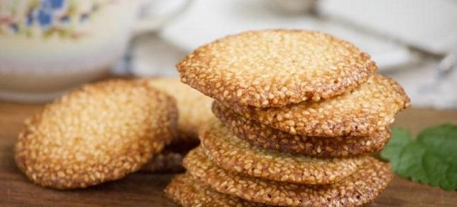 печенье кунжутный грильяж рецепт