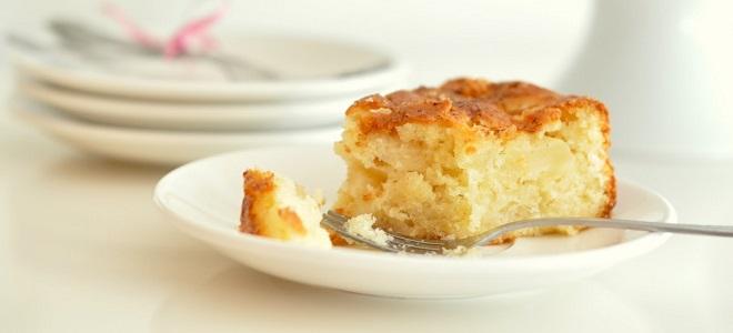 пирог из бананов и яблок в духовке