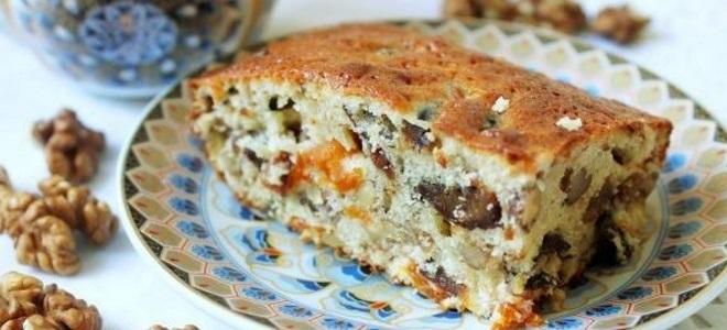 Пирог с яблоками орехами и изюмом