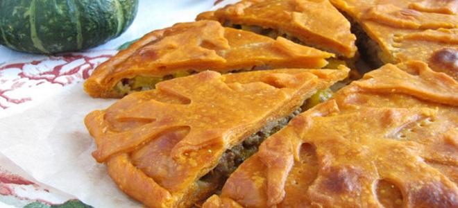 пирог с тыквой и калиной