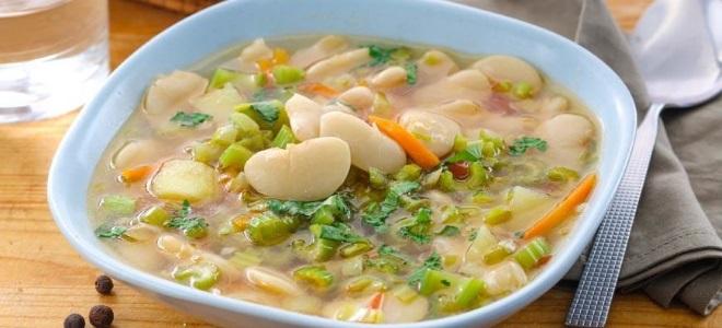 Постный фасолевый суп из белой фасоли - рецепт