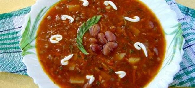 Постный фасолевый суп из красной фасоли - рецепт
