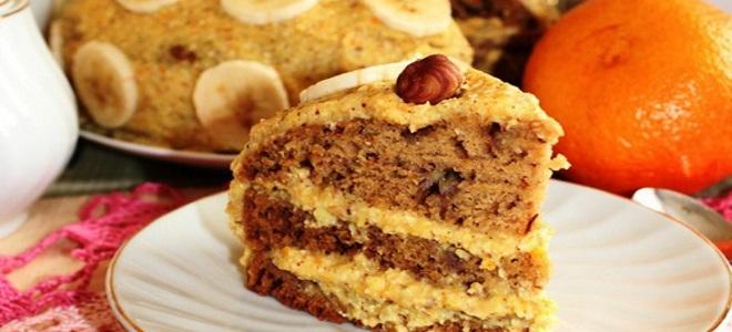 постный праздничный торт