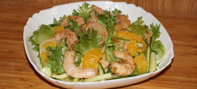 Постный салат с креветками рецепт с очень вкусный