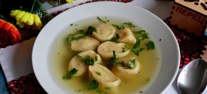 Постный суп с галушками - рецепт