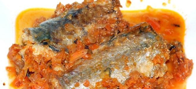 путассу под маринадом из моркови и лука