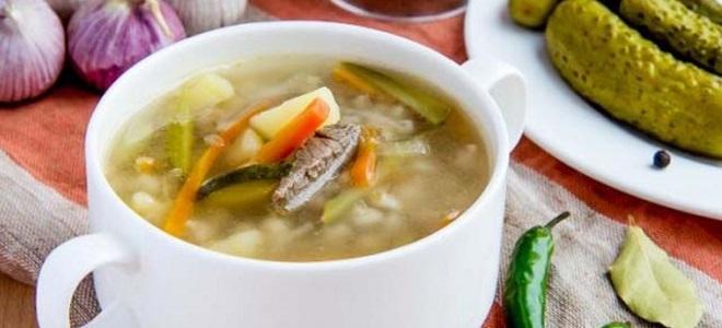 суп рассольник со свежими огурцами рецепт