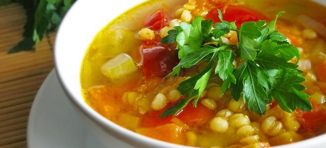 Рецепт горохового супа без мяса с картофелем