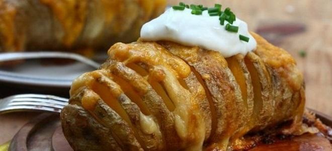 рецепт картошки гармошки с чесноком