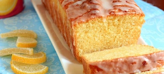 Рецепт лимонного кекса в духовке