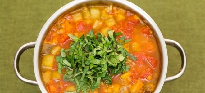 Рецепт овощного супа без мяса